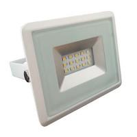 Reflector LED SMD, putere 10 W, 850 lm, 6000 K, alb rece, carcasa slim, Alb