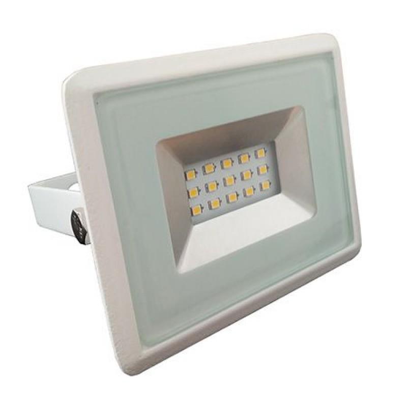 Reflector LED SMD, putere 10 W, 850 lm, 6000 K, alb rece, carcasa slim, Alb 2021 shopu.ro