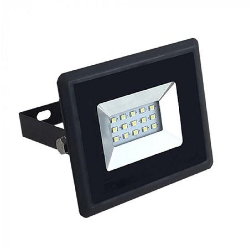 Proiector tip reflector LED SMD, 10 W, 6000 K, IP65, Negru shopu.ro
