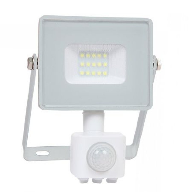 Reflector LED SMD, 10 W, 6400 K alb rece, 800 lm, senzor miscare, alb 2021 shopu.ro