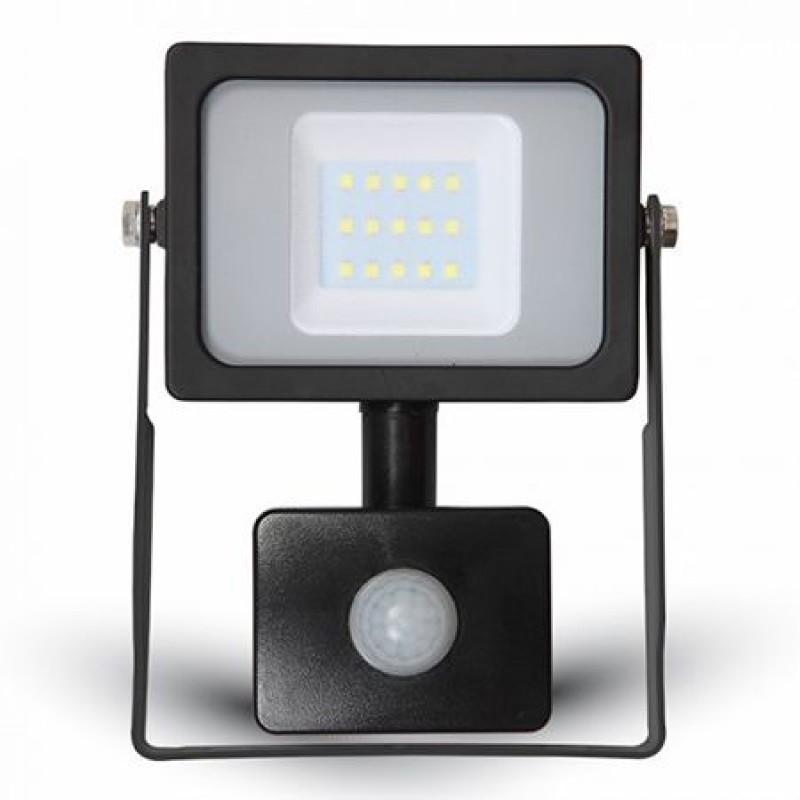 Proiector V-Tac cu LED SMD, 10 W, senzor de miscare, lumina alba rece