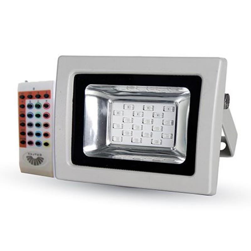 Proiector LED, 10 W, senzor de lumina, alb shopu.ro