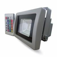Proiector tip reflector LED SMD, 10 W, RGB, IP65, Gri