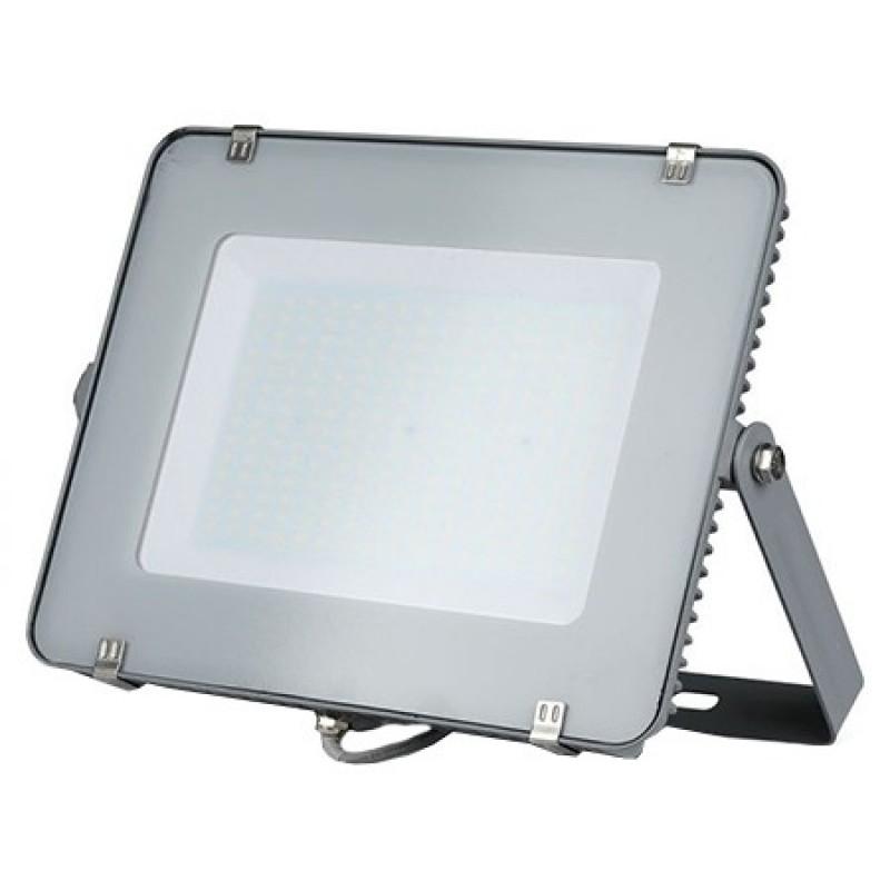 Reflector LED SMD V-Tac, 200 W, 4000 K, IP65, 16000 lumeni, protectie impact, aluminiu, Gri 2021 shopu.ro