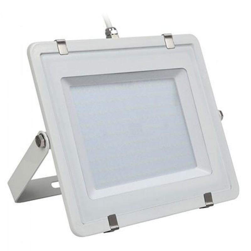 Reflector LED, 200 W, 16000 lm, 6400 K, alb neutru, cip samsung, rama alba 2021 shopu.ro