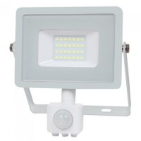 Reflector LED SMD cu senzor miscare, 20 W, 6400 K, IP65, Alb