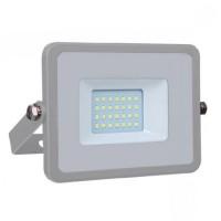 Reflector LED SMD, putere 20 W, 1600 lm, 6400 K, alb rece, cip Samsung, rama gri