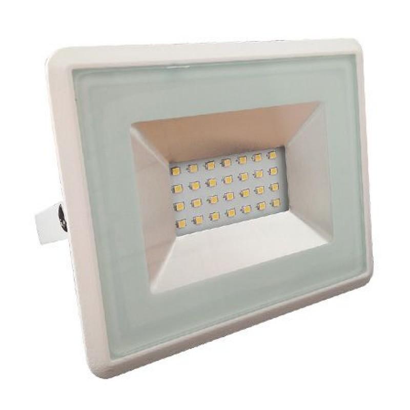 Proiector tip reflector LED SMD, 20 W, 6500 K, IP65, Alb shopu.ro