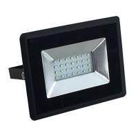 Proiector tip reflector LED SMD, 20 W, 6500 K, IP65, Negru