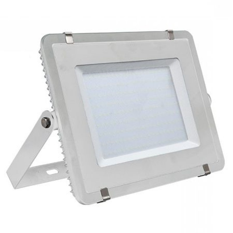 Reflector LED, 300 W, 24000 lm, 6400 K, alb rece, cip samsung, rama alba 2021 shopu.ro