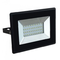 Reflector LED SMD, 30 W, 3000 K, 2550 lm, IP65, Negru