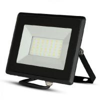 Reflector LED SMD, 30 W, 4000 K, 2550 lm, IP65, lumina alb neutru, Negru