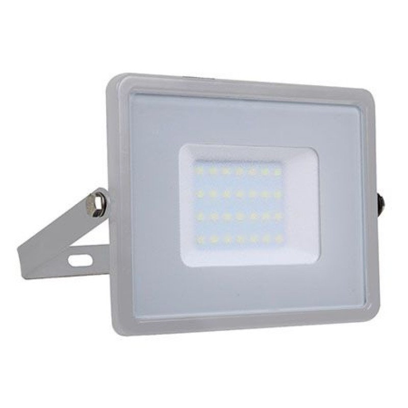Proiector V-Tac cu LED SMD, cip Samsung, 30 W, 6400 K, lumina alb rece 2021 shopu.ro