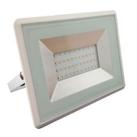 Proiector tip reflector LED SMD, 30 W, 6500 K, 2550 lm, IP65, Alb