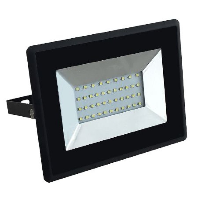Proiector tip reflector LED SMD, 30 W, 6500 K, 2550 lm, IP65, Negru
