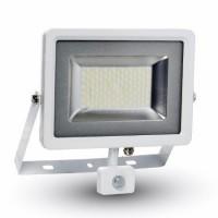 Reflector LED SMD cu senzor miscare, 50 W, 6000 K, 4000 lm, IP44