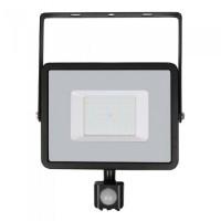 Proiector V-Tac cu LED SMD, cip Samsung, 50 W, senzor de miscare, lumina alb rece