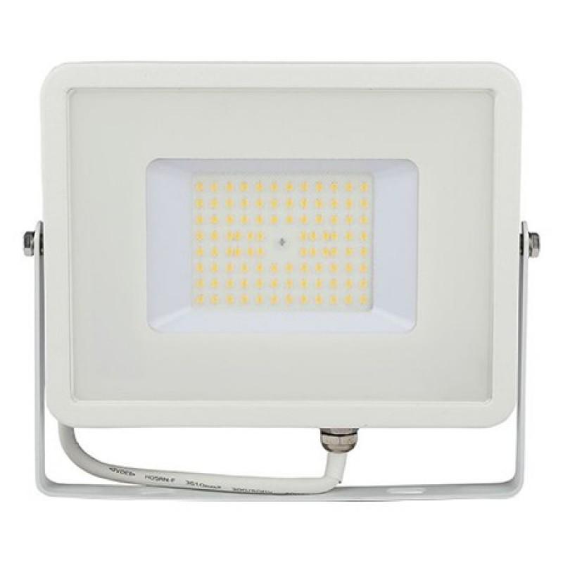 Reflector LED SMD V-Tac, 50 W, 6400 K, IP65, 6000 lumeni, protectie impact, chip samsung, aluminiu, Alb 2021 shopu.ro