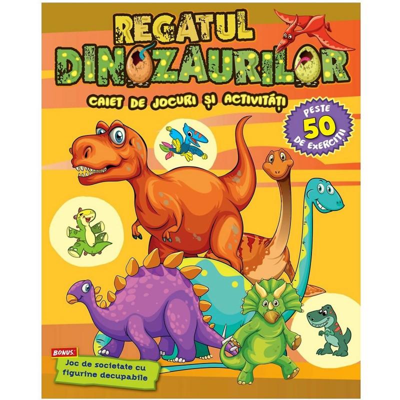 Carte pentru copii Regatul Dinozaurilor Editura Kreativ, 48 pagini, 3-10 ani 2021 shopu.ro