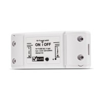Releu wireless Nous L6, 2200 W, 10 A, 88 x 38 x  22 mm, aplicatie SmartHome, Alb
