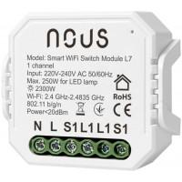 Releu wireless Nous, 2 x 1150 W, 46 x 46 x 18 mm, raza actiune 200 m, Alb
