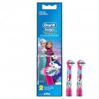Set 2 rezerve pentru periuta electrica Oral B D12, model Frozen, 3 ani+