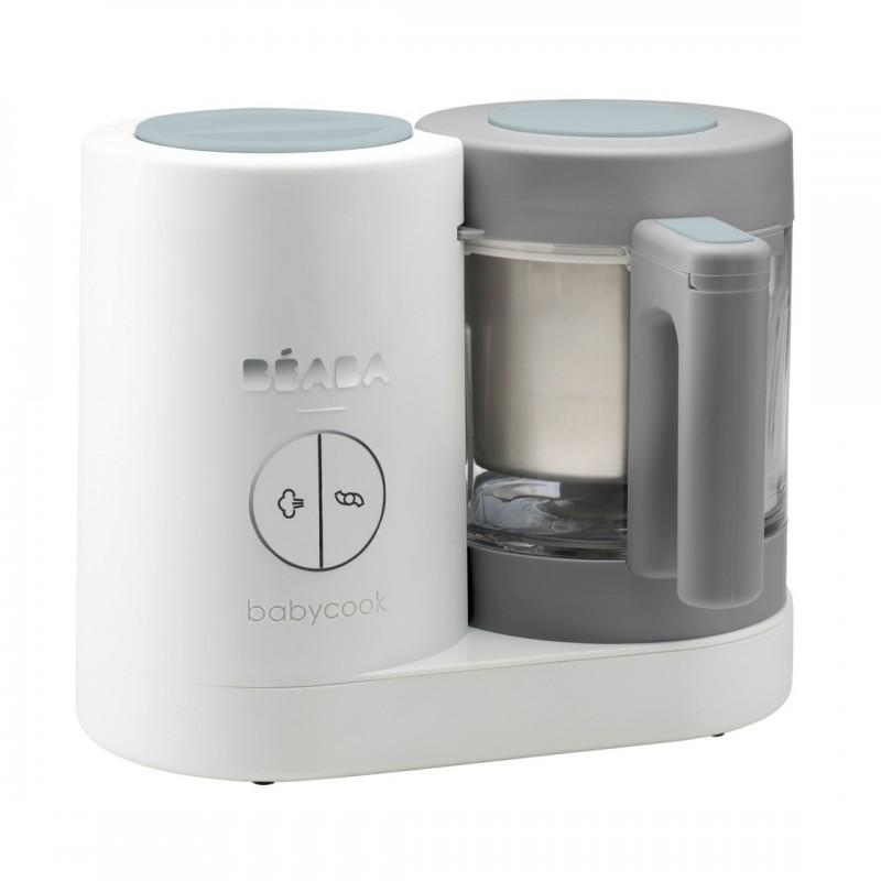 Robot Babycook Neo Beaba, vas sticla 1250 ml, maner ergonomic, White Grey 2021 shopu.ro