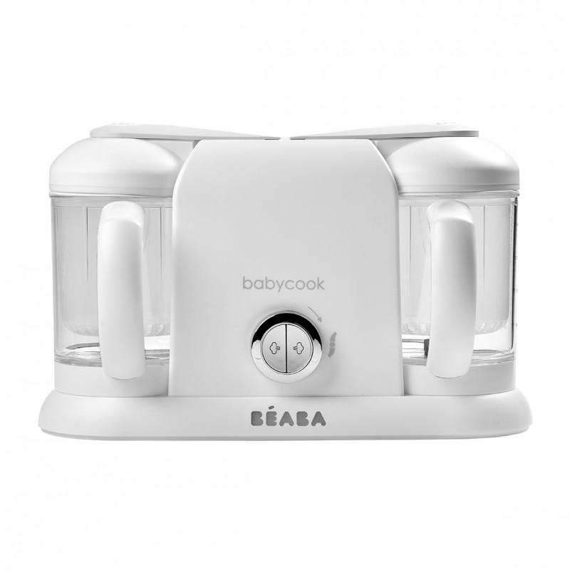 Robot 4 in 1 Babycook Plus Beaba, 2 vase preparare 1100 ml, White Silver 2021 shopu.ro