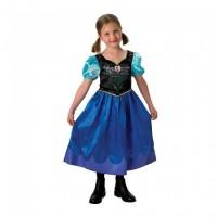 Rochita Anna Clasic Frozen, varsta 7-8 ani, marime L, Albastru