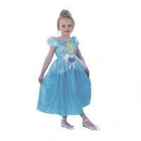 Rochita Clasica Cenusareasa Princess, varsta 3-4 ani, marime S, Albastru