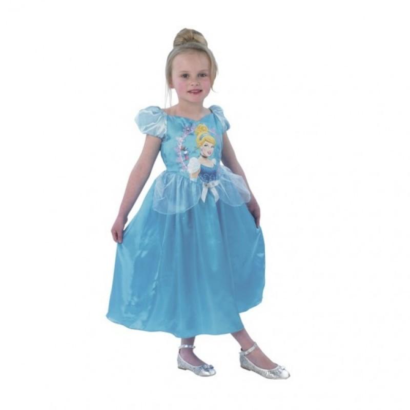 Rochita Clasica Cenusareasa Princess, varsta 3-4 ani, marime S, Albastru 2021 shopu.ro
