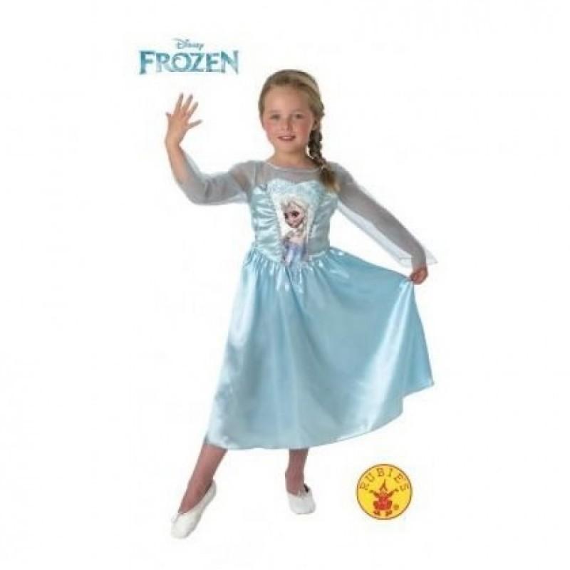 Rochita Elsa Clasic Frozen, varsta 7-8 ani, marime L, Albastru 2021 shopu.ro