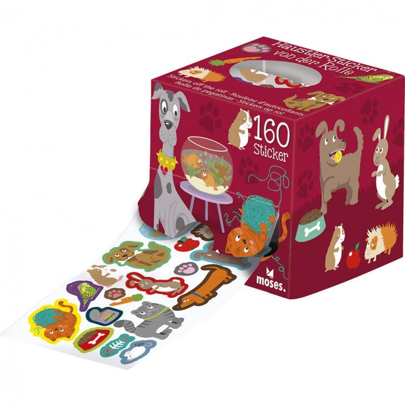 Rola stickere Animalute Moses, 80 cm, 3 ani+, Multicolor 2021 shopu.ro