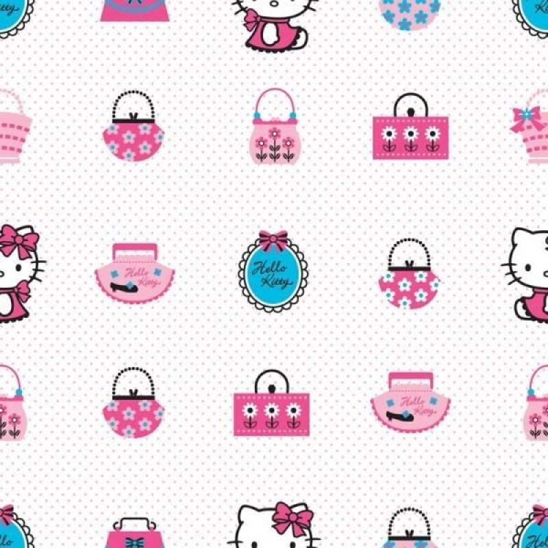 Rola tapet Hello Kitty Fashion Decofun, 10 x 0.52 m 2021 shopu.ro