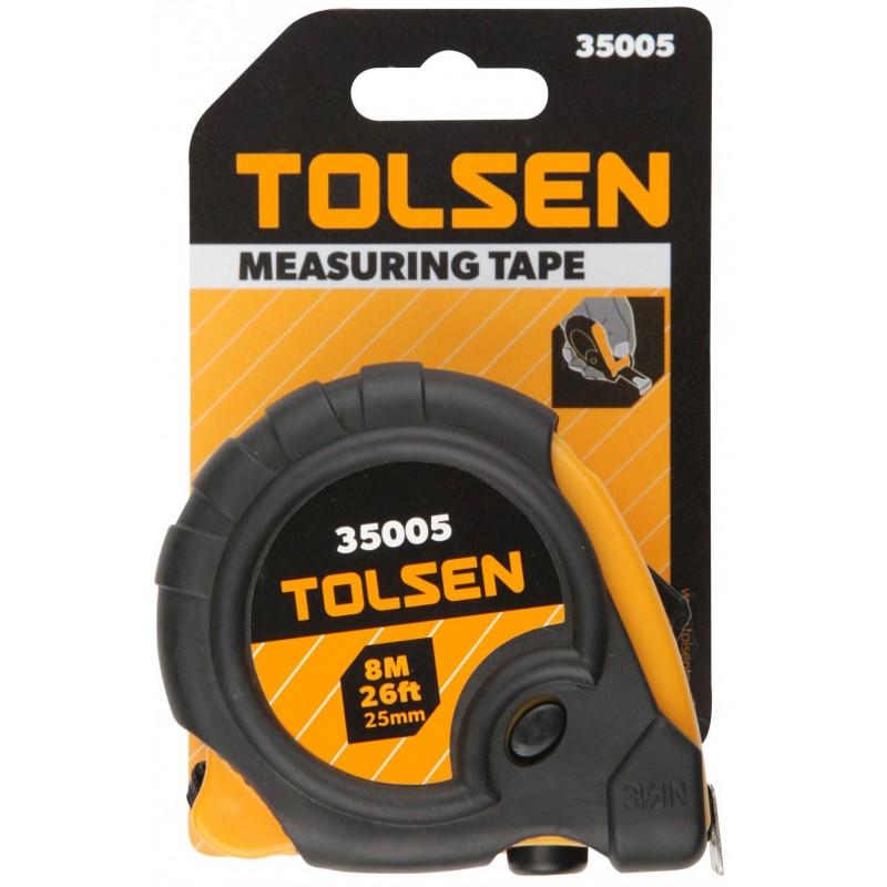 Ruleta Tolsen, 8 m x 25 mm, 3 butoane de oprire 2021 shopu.ro