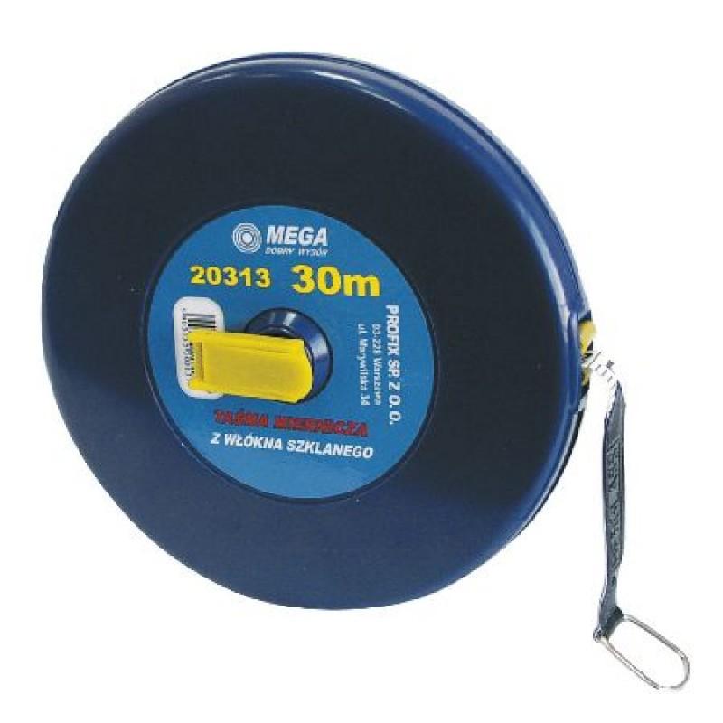 Ruleta lunga cu banda din fibra Mega, 50 m shopu.ro
