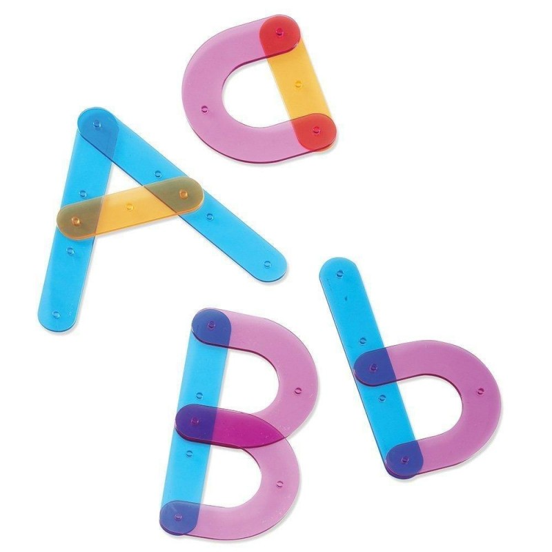 Joc interactiv Sa construim alfabetul Learning Resources, 60 piese, 13 carduri cu activitati 2021 shopu.ro