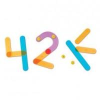 Joc educativ Sa Construim Cifrele Learning Resources, 30 piese colorate, 5 carduri