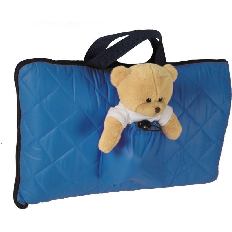 Sac de dormit pentru calatorii Tuloko, ursulet de plus inclus, albastru 2021 shopu.ro