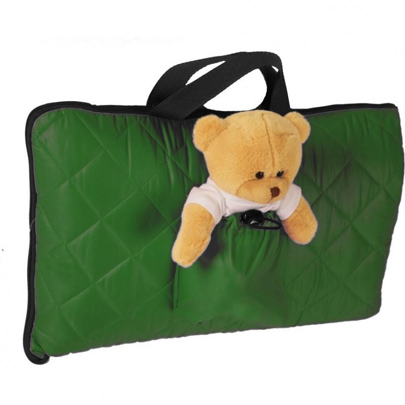 Sac de dormit pentru calatorii Tuloko, ursulet de plus inclus, verde 2021 shopu.ro