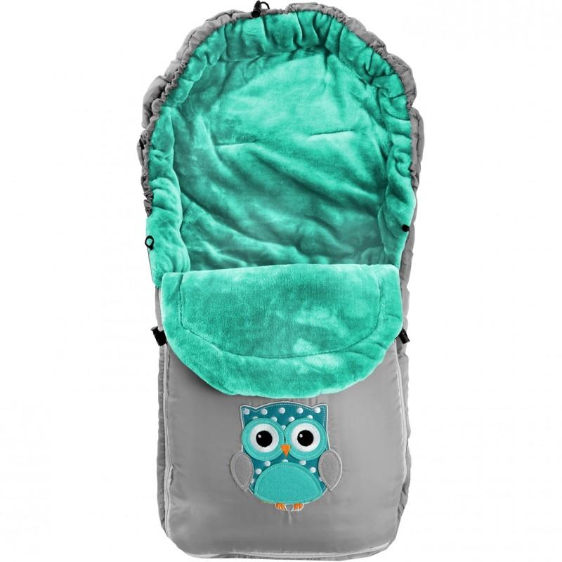 Sac iarna Owl Tutumi, 90 x 43 cm, material impermeabil, gri/verde