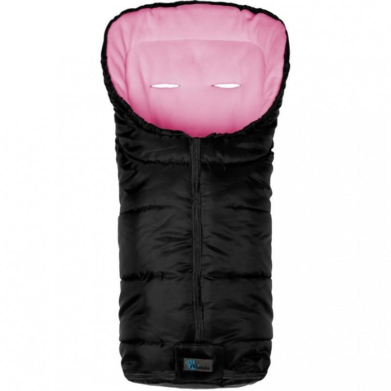 Sac pentru carucior Active Collection Altabebe, 93 x 45 x 5 cm, negru/roz