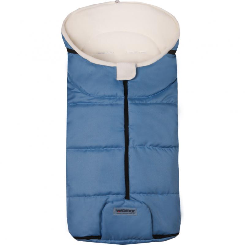 Sac de iarna Wintry N12 Womar Zaffiro, 90 x 40 cm, 0 luni+, Albastru inchis 2021 shopu.ro