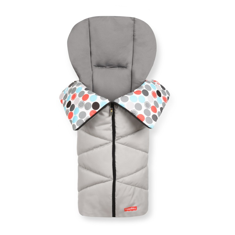 Sac Iarna Cosy Toe FP Gumball Fisher-Price, material matlasat, design buline, Grey 2021 shopu.ro