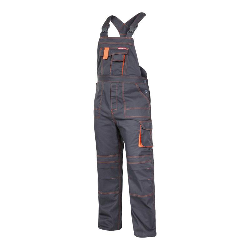 Salopeta lucru mediu-groasa, talie si bretele ajustabile, cusaturi duble, 7 buzunare, marime S/H-164