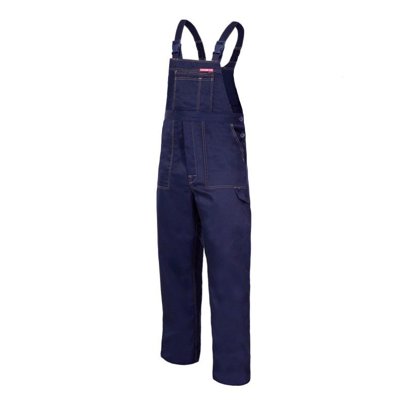 Salopeta lucru subtire, bretele ajustabile cu catarama si elastic, 6 buzunare, marime XL/H-176, Albastru shopu.ro