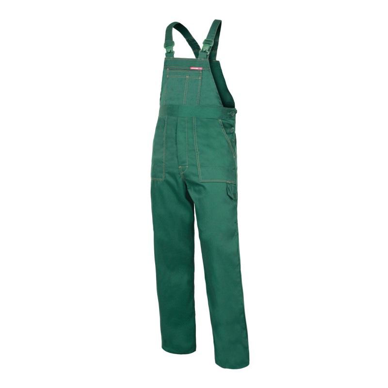 Salopeta lucru subtire, talie si bretele ajustabile, 6 buzunare, cusaturi duble, marime 2XL/H-188, Verde