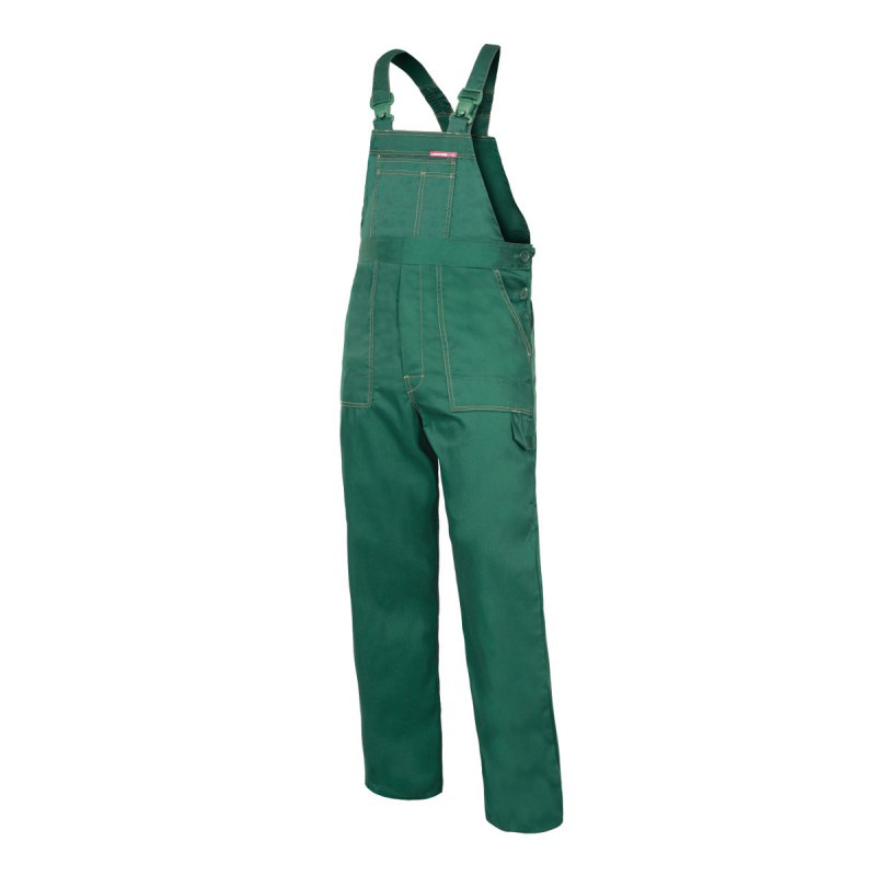 Salopeta lucru subtire, talie si bretele ajustabile, 6 buzunare, cusaturi duble, marime M/H-170, Verde