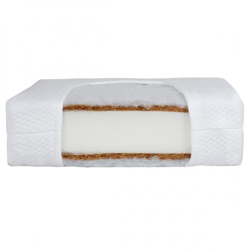 Saltea Cocos Lux Prestige Line Fiki Miki, spuma poliuretanica, 120 x 60 x 11 cm