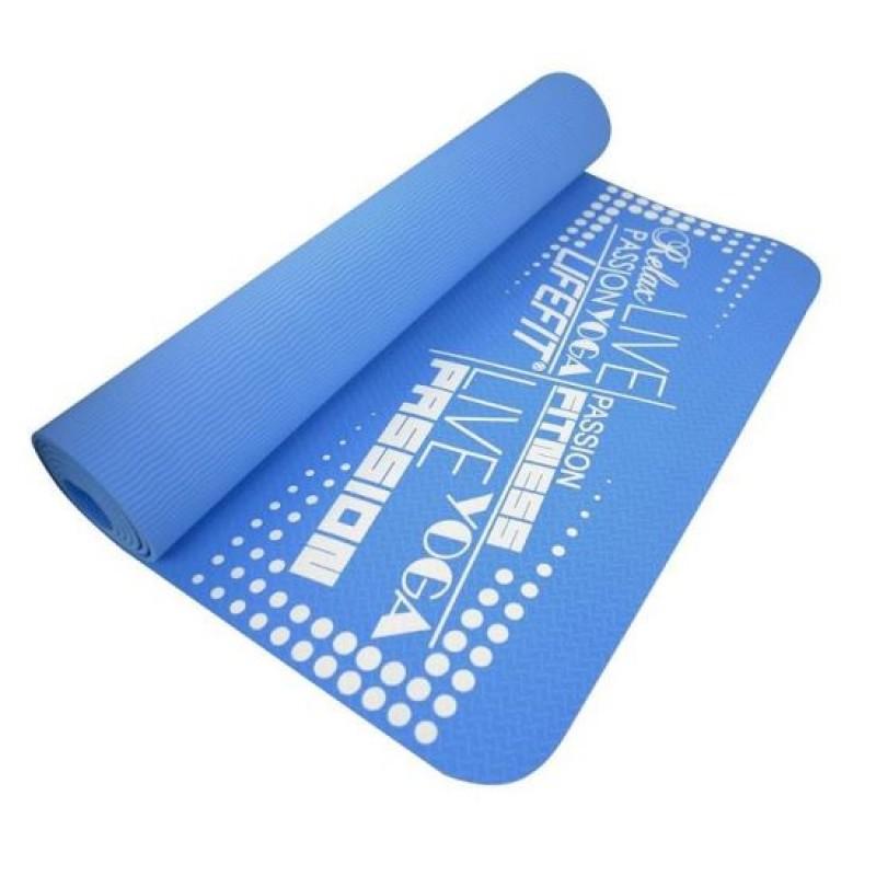 Saltea pentru Yoga DHS, 183 x 61 x 0.4 cm, TPE, Albastru 2021 shopu.ro